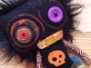 poupee-punk-noire-tete-mort-orange